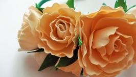 Обруч ′Нежные розы′