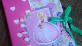 Блокнот для записей с принцессой