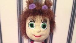 Вязаная кукла Маша