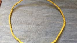 Чокер жовтий