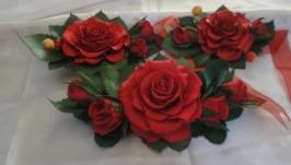 Набор украшений Красные розы