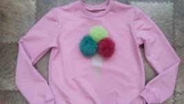 Пуловер  з помпонами