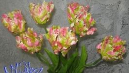 Попугайные тюльпаны (1 штука),холодный фарфор