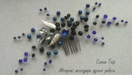 Гребінець з кришталю, перлин та кристалів