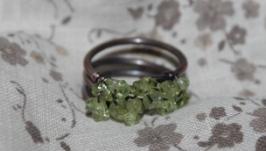 медное кольцо с кварцем
