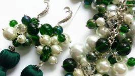 Зеленый набор украшений GREEN DAY Зеленый День от LILEI JEWELRY