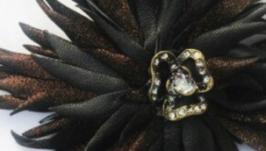 Цветок-брошь ′Золотая Орхидея′