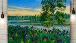 Літній вечір на річці