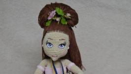 вязаная игрушка амигуруми куколка