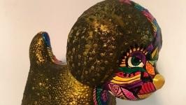 Бронзовый Пес Майя статуэтка