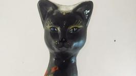 Кошка Мысли Цветов статуэтка.