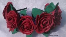 Ободок с розами