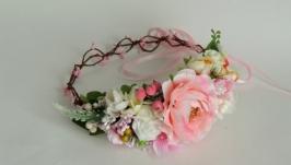 Веночек для волос Розовые облака
