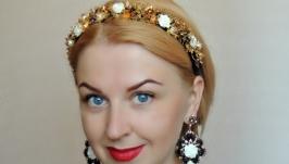 Ободок для волос и серьги в стиле Дольче Габбана  - Вдохновение