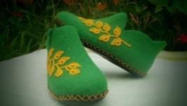 Домашние тапочки, валяная обувь, валенки, подарок