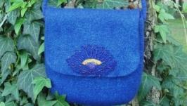 Вовняна сумка Синя квітка