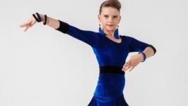 Платье для бальных танцев (латина) ′Elementary Blue′