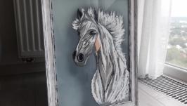 Картина ′Белый конь′