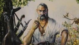 Картина лентами «Козак Максим Кривонос». Под заказ