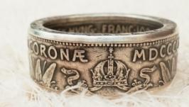 Кольцо из монеты 2 Короны 1912 Австро-Венгрия