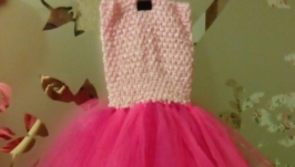 Платье пышное детское ′Праздник′, розовое, ′ту-ту′