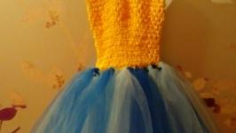 Платье пышное детское′Праздник′, в патриот.расцветке′ту-ту′