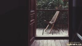 Дизайнерское деревянное складное кресло