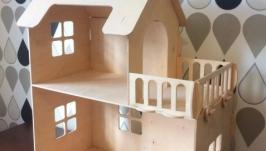 Кукольный деревянный домик габариты 60см-30см-68см