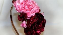 Обруч с розами