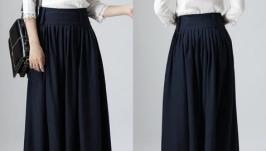 Льняная юбка макси