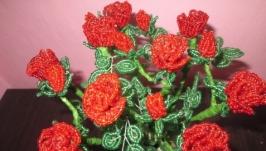 Троянди із бісеру