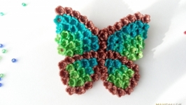 Брошь ′Бабочка′ из полимерной глины.