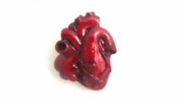 Значок сердце ручной работы Анатомическое сердце