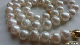 Бусы, ожерелье натуральный морской жемчуг Акойя