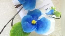Серьги ′Анютыни глазки синие′