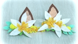 Ушки с цветами(заколки)