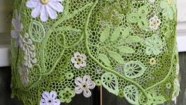 Платье ′Летний сад с ромашками′. Ирландское кружево