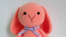 Нежно-розовая Зайка