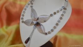 Колье из агатов ′Нежная орхидея′