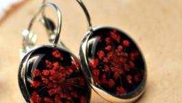 Серьги ′Красные салюты′