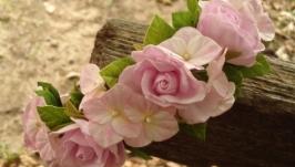 Ободок ′розы и гортензия′№5