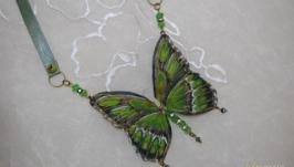 Колье ′Бабочка зеленая′