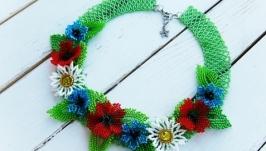 Колье ожерелье ′Цветочное поле′