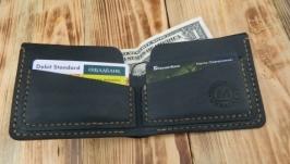 Мужской кожаный бумажник для денег и кредитных карт