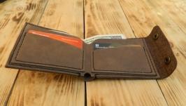 Бумажник из натуральной кожи для кредитных карт и денег