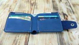 Мужской кожаный кошелек, бумажник для карт и купюр