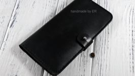 Мужское  портмоне  Long Wallet Black KR 2