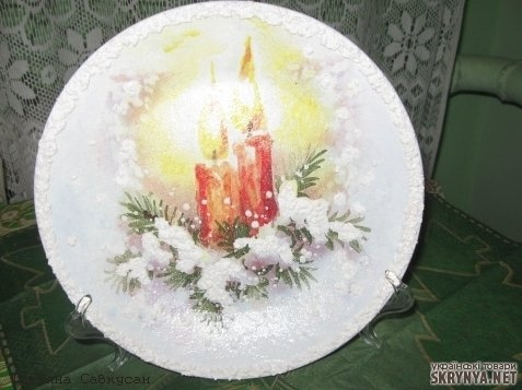 Поделка красивая тарелка - Красивая поделка ко Дню космонавтики своими руками