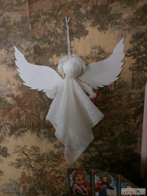 Как сделать ангела своими руками в домашних 29