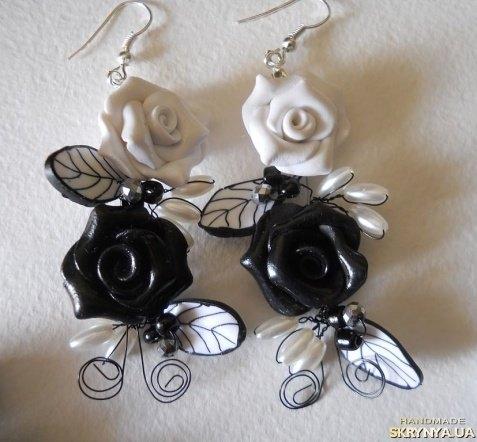 Черно белые украшения